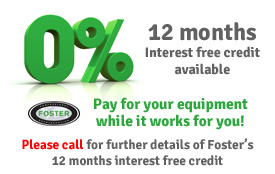 12 months interest free credit from Foster