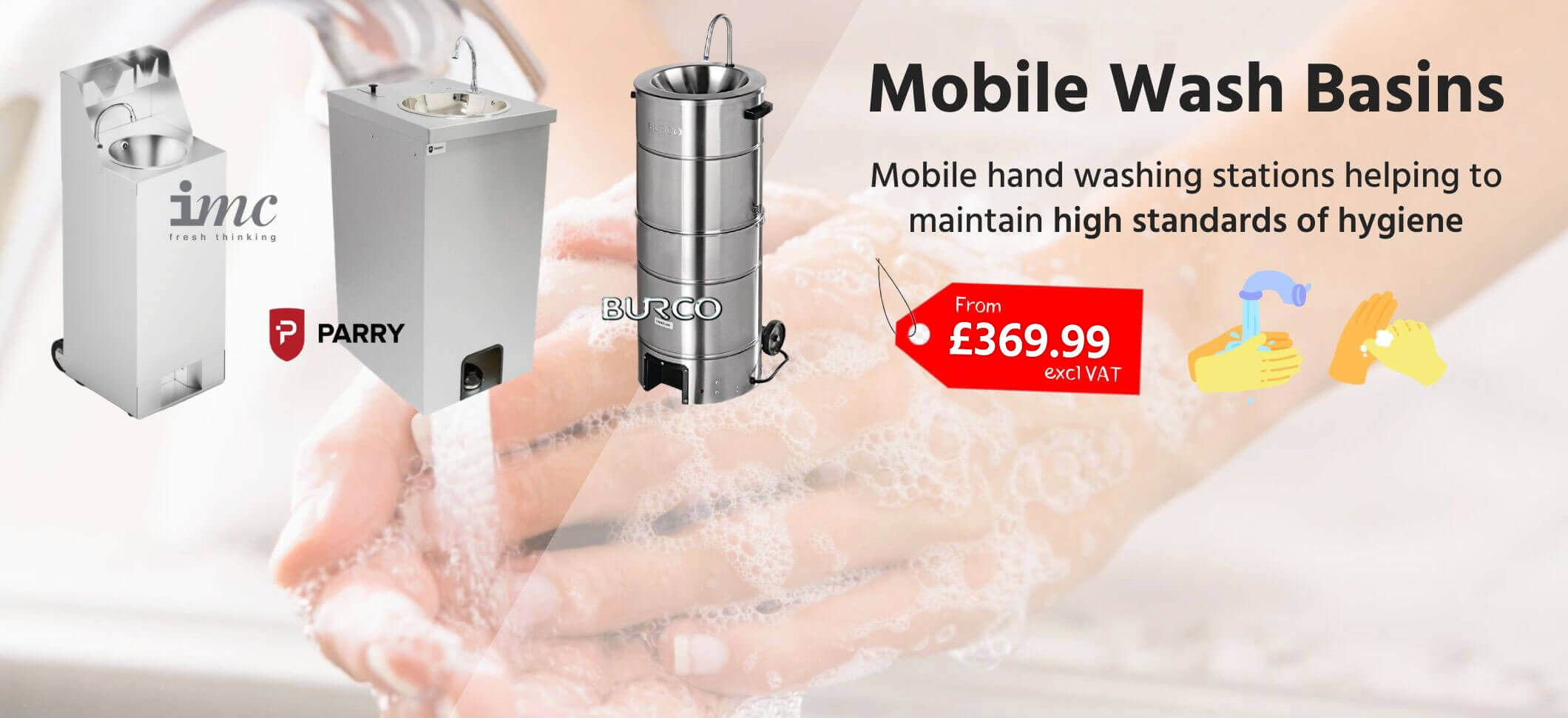 Mobile Hygeine Hand Wash Basins