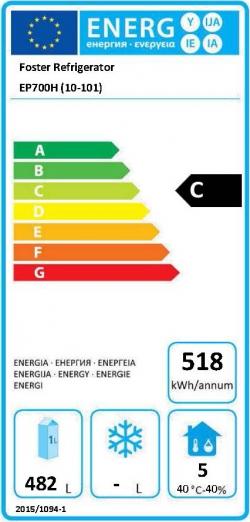 EcoPro G2 EP700H (10-101) 600 Ltr Single Door Upright Fridge Energy Rating