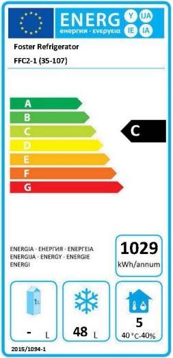 FFC2-1 (35-107) FlexDrawer Fridge and Freezer Storage Drawer Energy Rating