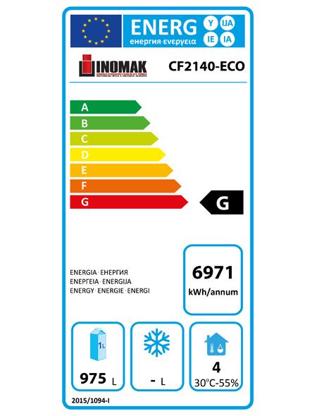 CF2140-ECO 1450 Ltr Double Door Fresh Meat Freezer Energy Rating
