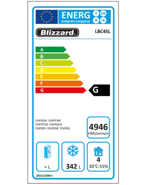 LBC4SL 511 Ltr Freezer Counter Energy Rating