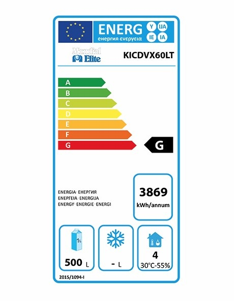 KICDVX60LT 580 Ltr Variable Temperature Upright Freezer Energy Rating