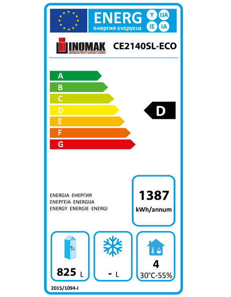 CE2140SL-ECO 1152 Ltr Heavy Duty Upright Refrigerator Energy Rating