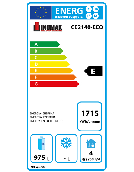 CE2140-ECO 1450 Ltr Double Door Meat Refrigerator Energy Rating