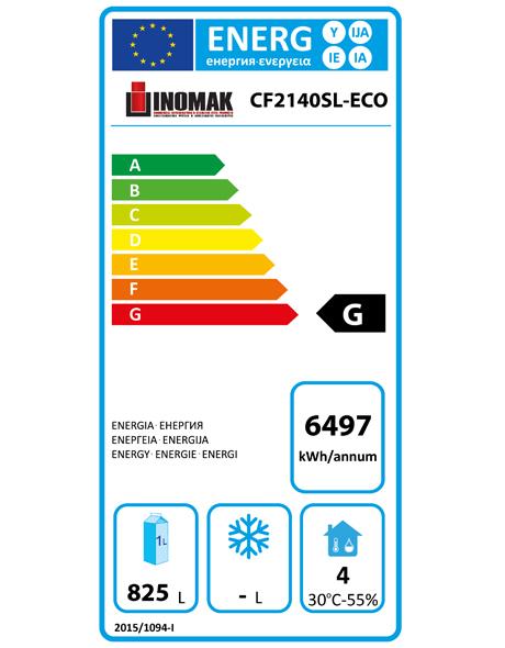 CF2140SL-ECO 1152 Ltr Double Door Upright Freezer Energy Rating