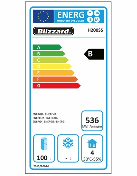 H200SS Undercounter Fridge Energy Rating