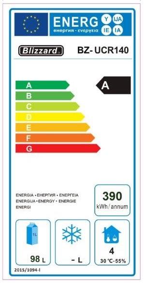 UCR140 Undercounter Fridge Energy Rating