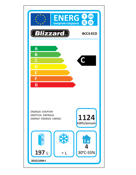 BCC3-ECO Refrigerated Prep Counter Energy Rating