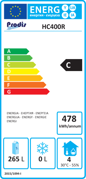 HC401R 361 Ltr Single Door Upright Fridge Energy Rating