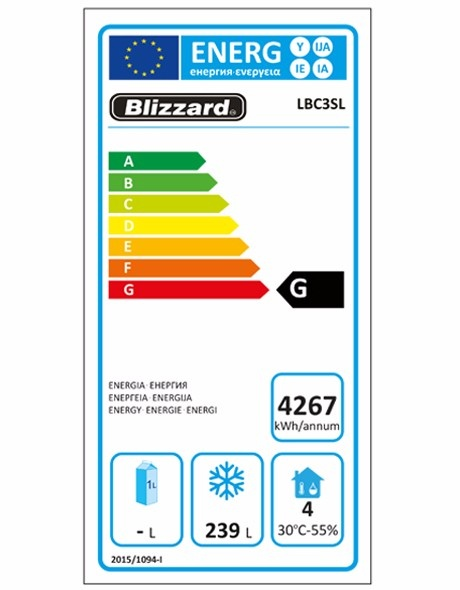 LBC3SL 386 Ltr Freezer Counter Energy Rating