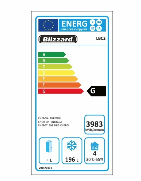 LBC2 282 Ltr Freezer Prep Counter Energy Rating