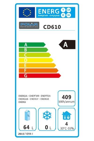 CD610 150 Ltr Undercounter Fridge Energy Rating