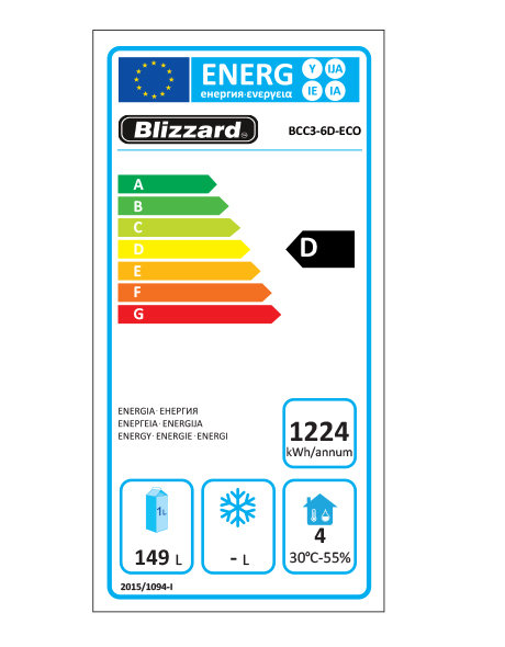 BCC3-6D-ECO 342 LtrRefrigerated Prep Counter Energy Rating