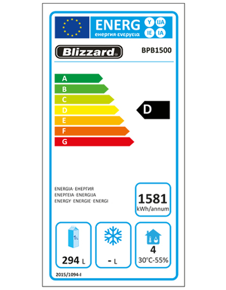 BPB1500 Pizza / Salad Prep Counter Energy Rating