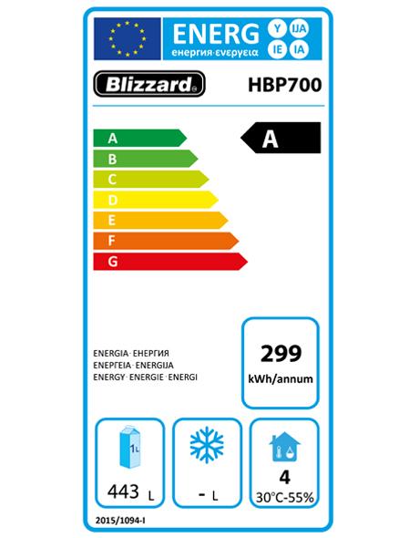 Premium HBP700 700 Ltr Ventilated Hydrocarbon Upright Fridge Energy Rating
