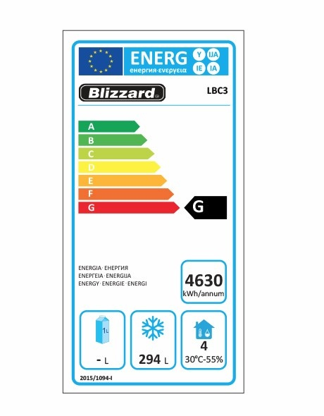 LBC3 417 Ltr Freezer Prep Counter Energy Rating