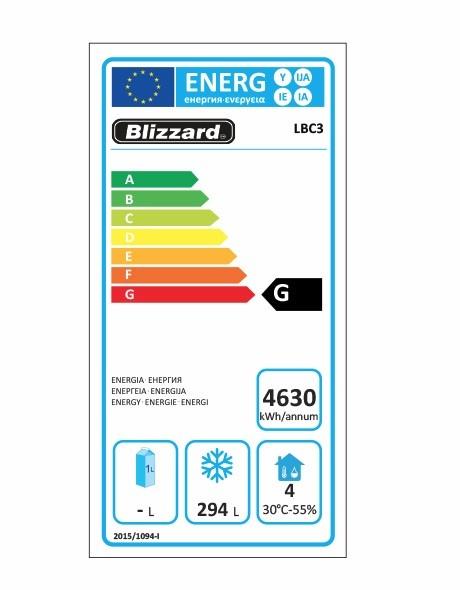LBC3 465 Ltr Freezer Prep Counter Energy Rating