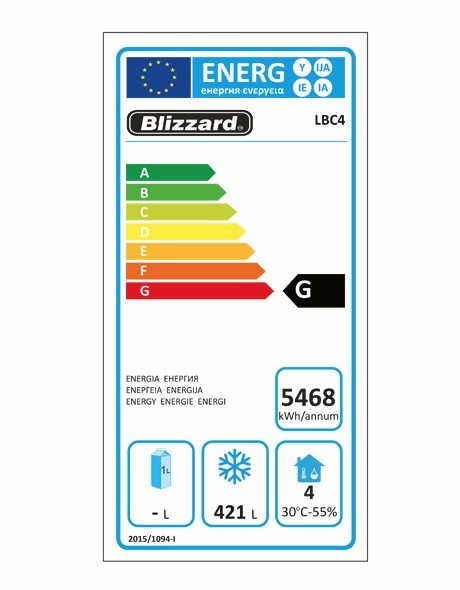 LBC4 616 Ltr 4 Door Freezer Prep Counter With Upstand Energy Rating