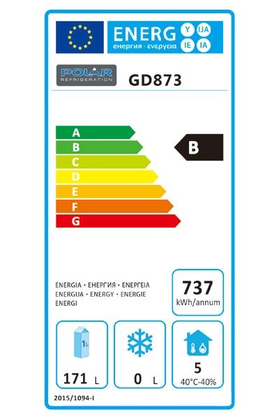 GD873 Refrigerated Prep Counter Energy Rating