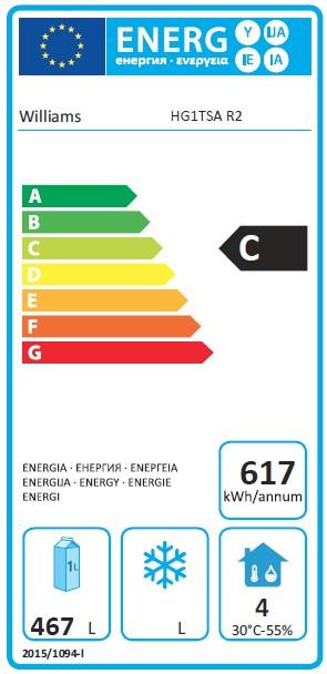 Garnet HG1TSA 620 Ltr Single Door Upright Fridge - G389 Energy Rating