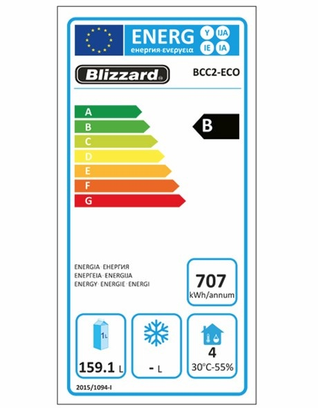 BCC2-ECO Refrigerated Prep Counter Energy Rating