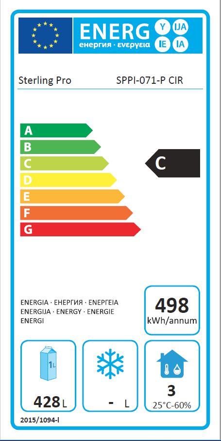 SPPI-071 700 Ltr Single Door Gastro Upright Fridge Energy Rating