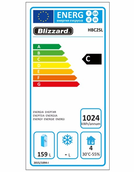 HBC2SL 260 Ltr Refrigerated Counter Energy Rating