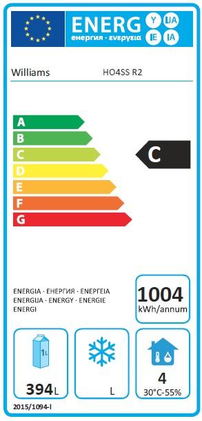 Opal HO4US3 715 Ltr 4 Door Fridge Counter - G395 Energy Rating