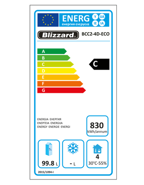 BCC2-4D-ECO Refrigerated Prep Counter Energy Rating