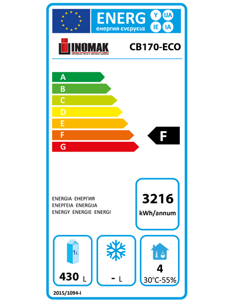 CB170-ECO 670 Ltr Upright Freezer Energy Rating