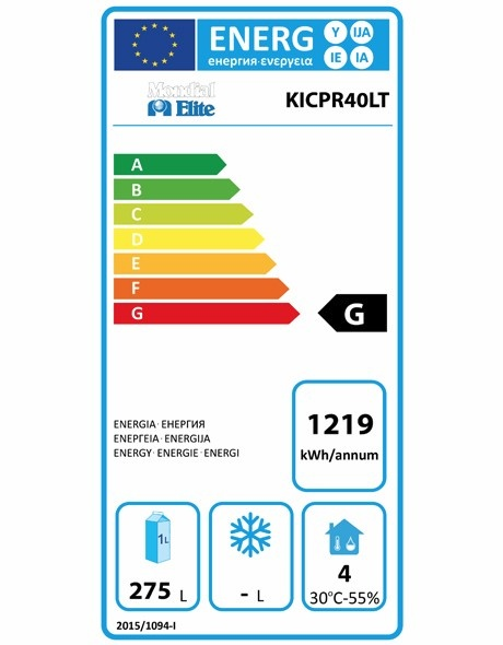 KICPR40LT 380 Ltr Upright Fridge Energy Rating