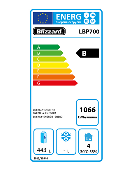 Premium LBP700 700 Ltr Upright Freezer Energy Rating