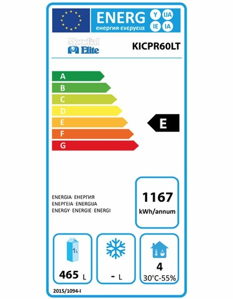 KICPR60LT 640 Ltr Upright Fridge Energy Rating