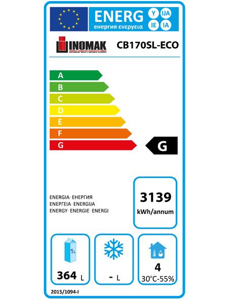 CB170SL-ECO 525 Ltr Upright Freezer Energy Rating