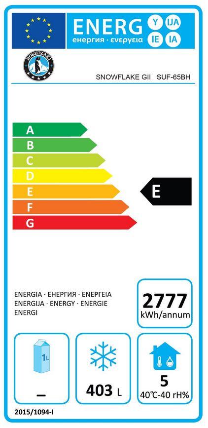 Snowflake GII SUF-65BH (877010211) 560 Ltr Single Door Upright Freezer Energy Rating