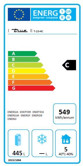 T-23-HC 588 Ltr Hydrocarbon Upright Fridge - CC224 Energy Rating