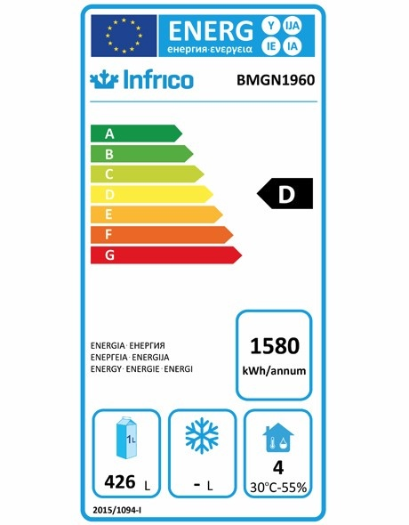 BMGN1960 3 Door Refrigerated Prep Counter Energy Rating