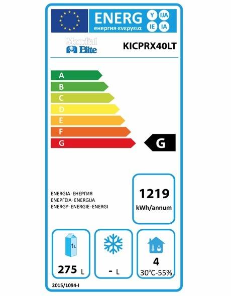 KICPRX40LT 380 Ltr Upright Fridge Energy Rating