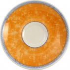 Churchill New Horizons Marble Border Espresso Saucers Orange 115mm