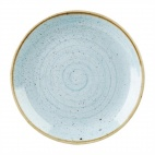 Churchill Stonecast Round Coupe Plates Duck Egg Blue 295mm
