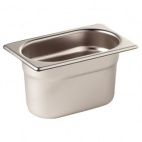 GN1/9 100 Stainless Steel 1/9 Gastronorm Pan 100mm