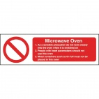 W231 Microwave Oven Safety Sign