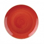 Churchill Stonecast Round Coupe Bowls Berry Red 248mm