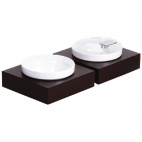 GC923 Frames Dark Wood Small Square Buffet Bowl Box
