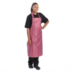 A581 Waterproof Nylon Apron - Red and White Stripe
