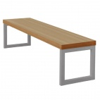 Dining Bench Beech Effect with Silver Frame 6ft
