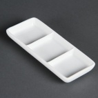 C336 Whiteware 3 Section Dish