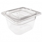 F571 Polycarbonate Gastronorm Pan - 1/6 One Sixth Size