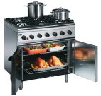 SLR9/N 6 Burner Natural Gas Oven Range (Legs At Rear)